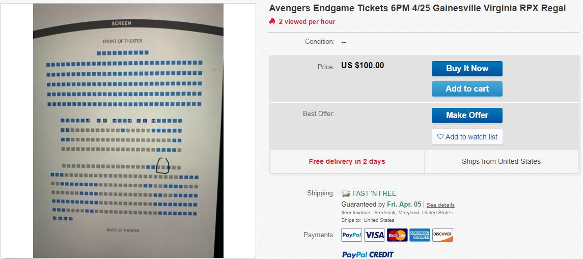 Avengers 100 USD