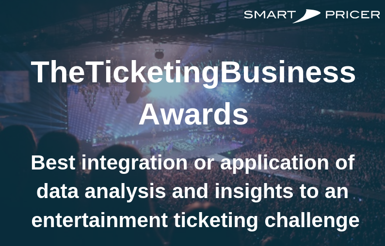 Smart Pricer has been shortlisted for the Insights and Analytics Award in TheTicketing Technology Awards 2019